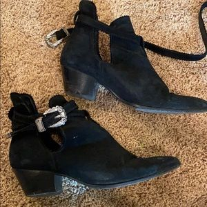 Sandro black boots